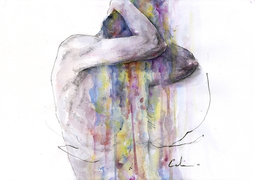 09-Learn-to-Appear-Silvia-Pelissero-agnes-cecile-Watercolor-and-Oil-Paintings-Fading-and-Appearing-www-designstack-co