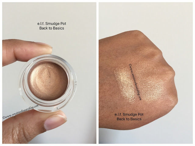 e.l.f. Smudge Pot Back to Basics swatched on dark skin