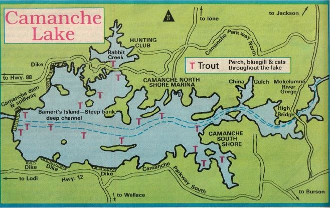how to fish camanche lake, hunting fishing maps and reports oregon and california
