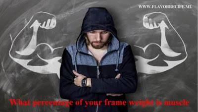 What percentage of your frame weight is muscle