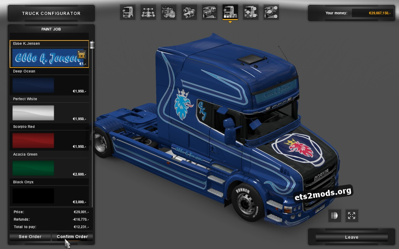 Metallik Ebbe K.Jensen Skin for Scania T