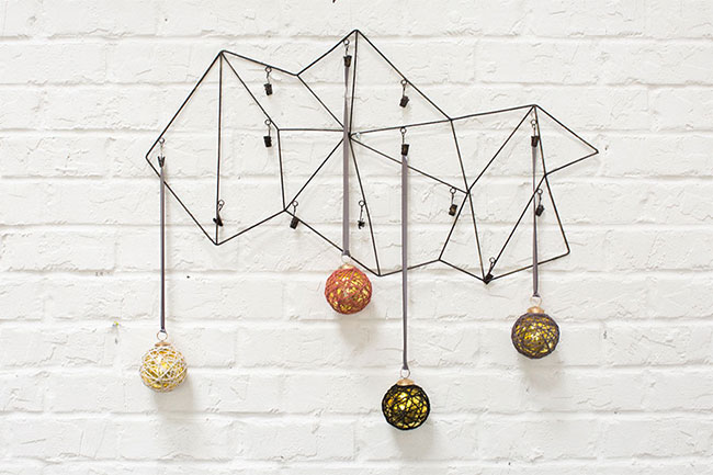 wholesale twine ornaments and geometric wire cardholder from accent decor