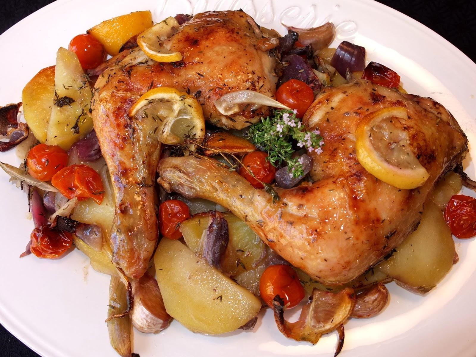 Cocinando con lola garc a muslos de pollo al horno con - Pollo al horno con limon y patatas ...