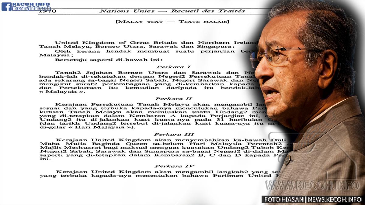 TAK SANGKA, AKHIRNYA! Tun Dr. Mahathir buka mulut pasal SABAH DAN SARAWAK! Dan Inilah 5 Fakta tentang Perjanjian Malaysia 1963 (MA63) yang anda mungkin tidak tahu