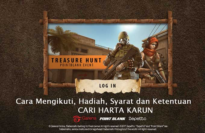 Event PB Garena Treasure Hunt Cari Harta Karun