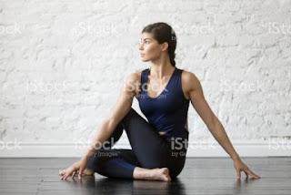 The twisting yoga pose