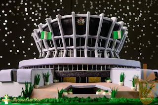 """The National Art Theatre Cake"" by Siku Adewuyi of Cake-n-Candy"