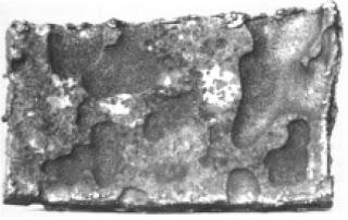 corrosao em placas em chapa de aço carbono de costado de tanque