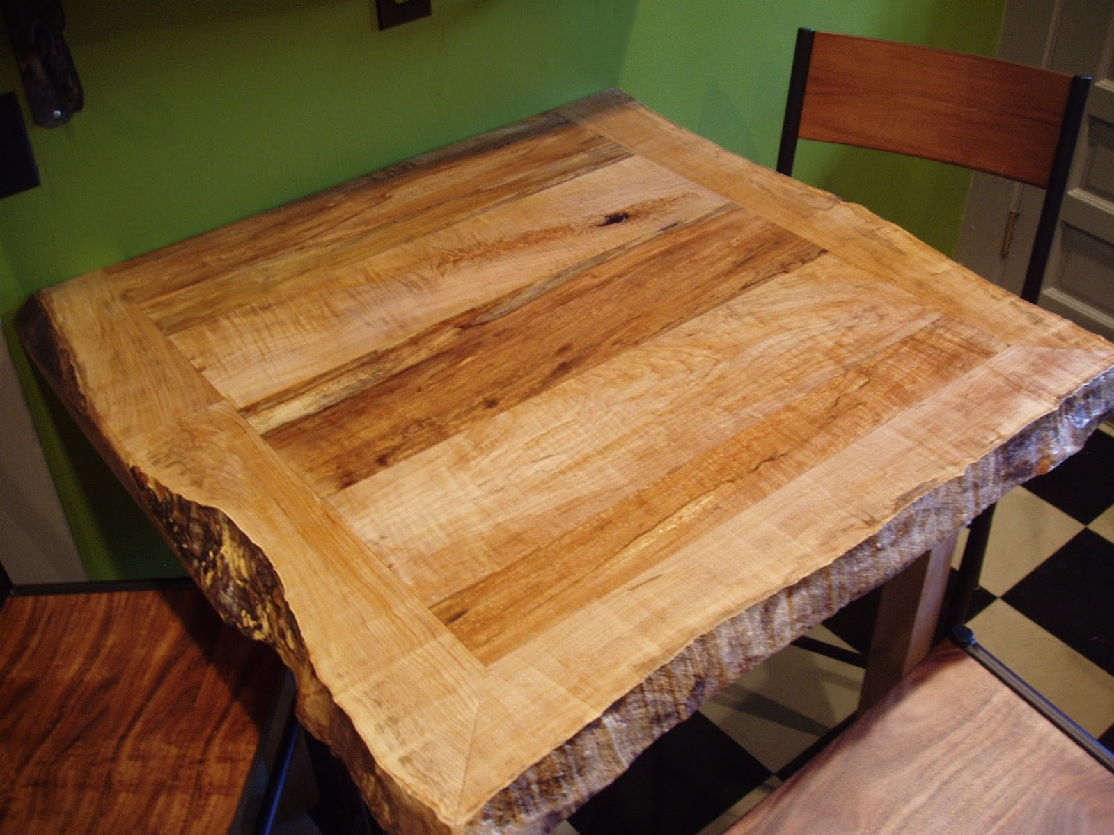 pnw: Custom Order Live Edge Kitchen Table and shelving in ...