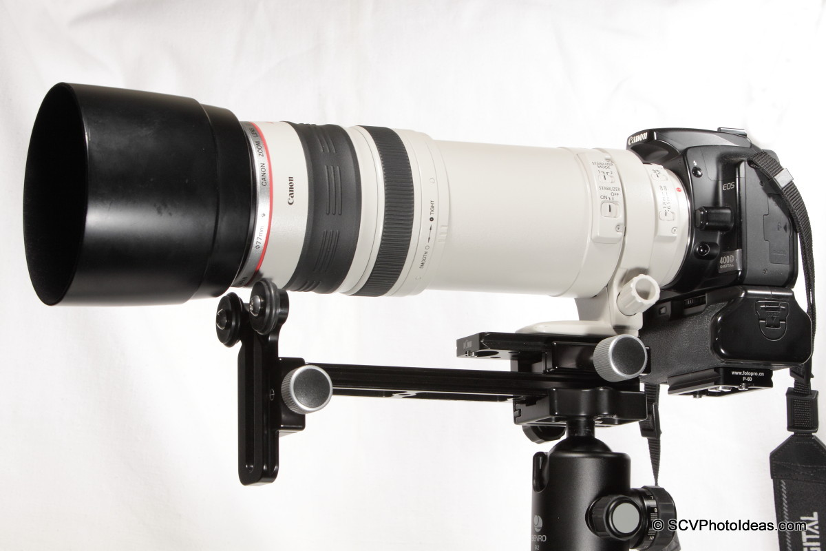 Canon EF100-400L IS-USM extended on Versatile LLSB
