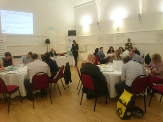 Discussion groups at work at the What Works Scotland event at Clydebank Town Hall