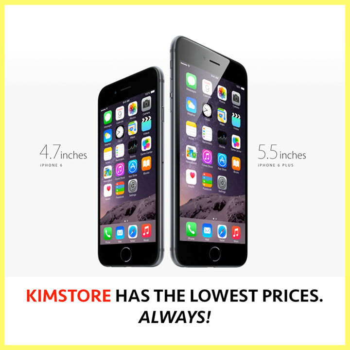 iPhone 6 and iPhone 6 Plus at Kimstore