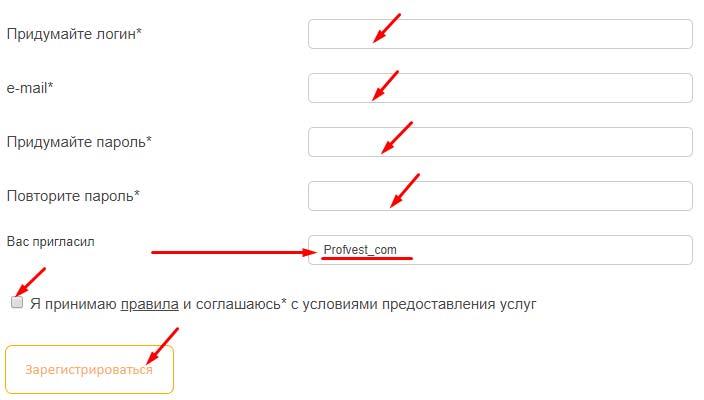 Регистрация в Neironix.biz 2