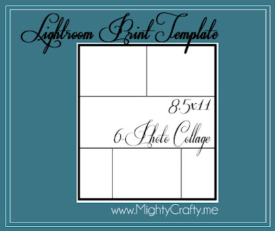 Lightroom Print Template - www.MightyCrafty.me