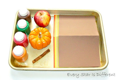 Stamping with Fall foods.