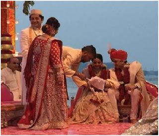 wedding on beach Isheta