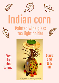 Indian corn tea light holder