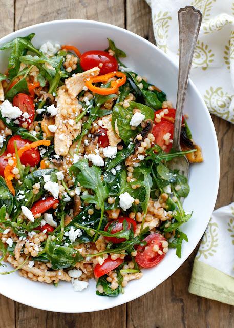 Summer Israeli Couscous Salad {Barefeet in the Kitchen}