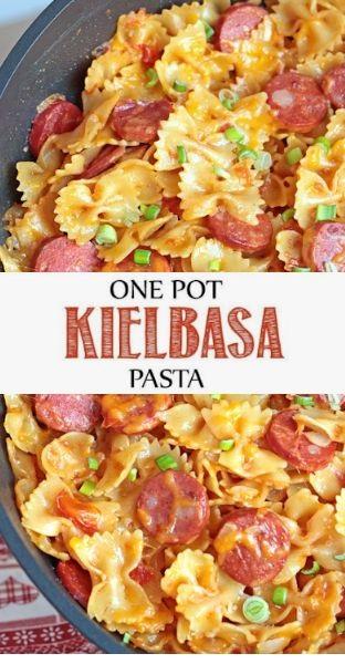 One Pot Kielbasa Pasta