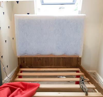 DIY upholstered bed frame in progress
