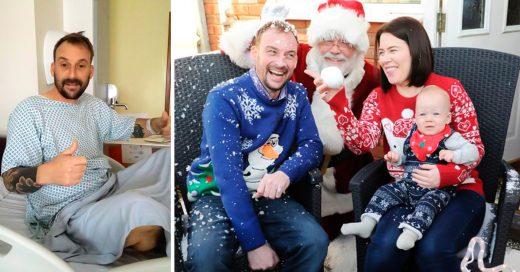Papá con cáncer celebra Navidad y deja recuerdos a su hijo