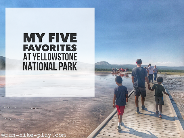My Five Favorites at Yellowstone National Park