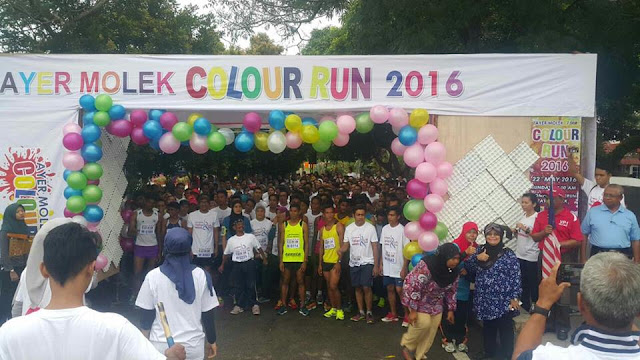 Ayer Molek Colour Run 2016