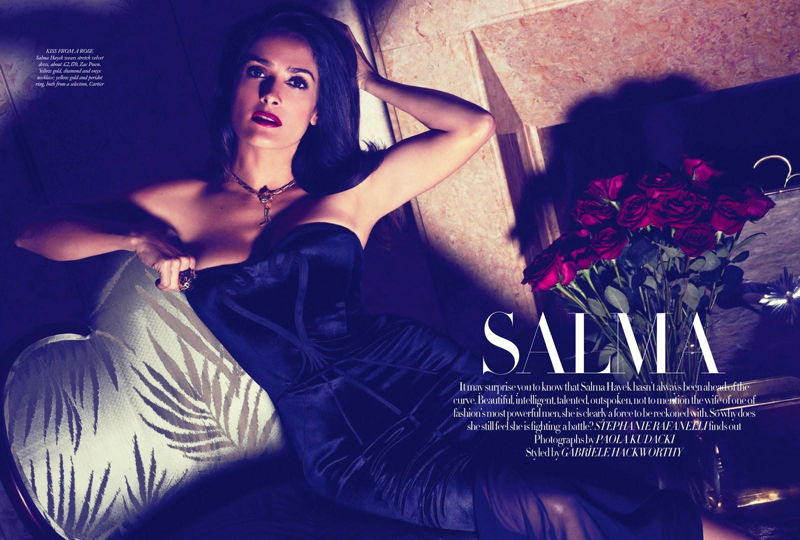 Salma Hayek Harpers Bazaar, November 2012 nudes (57 pics)