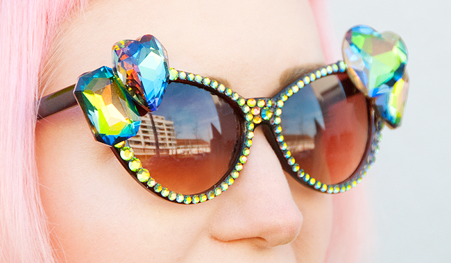 sunglasses, diamond, glitter