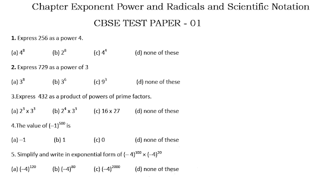 Exponent and radicals and scientific notation questions for competition