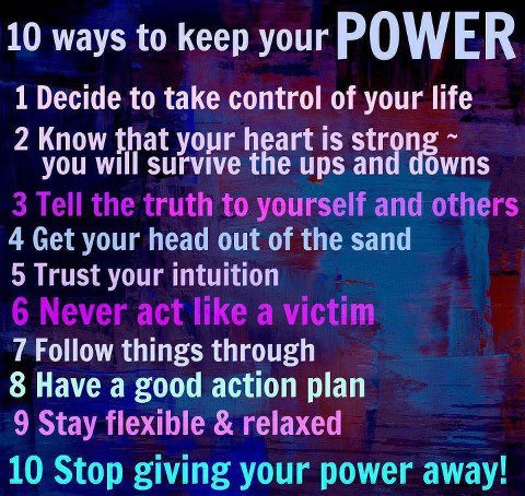 10 ways to keep your power!