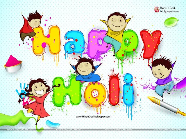 Happy Holi Cartoon Pic