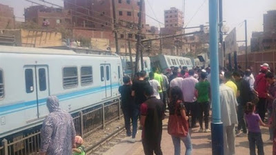 انقلاب عربة مترو