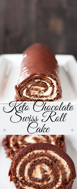 Keto Chocolate Swiss Roll Cake