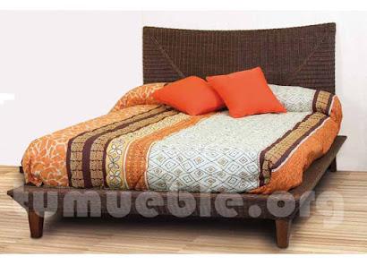 cama rattan natural j749