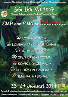 Lomba Biologi dan Karya Tulis Ilmiah - LOBI LKTI Univ. Andalas