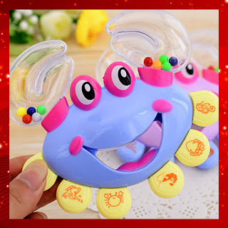 Baby Toddler Rattle Crab Model Baby Hand Bells