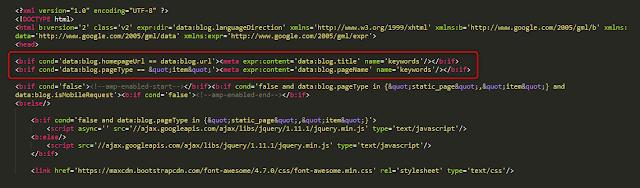 cara memasang meta keyword otomatis di blogspot