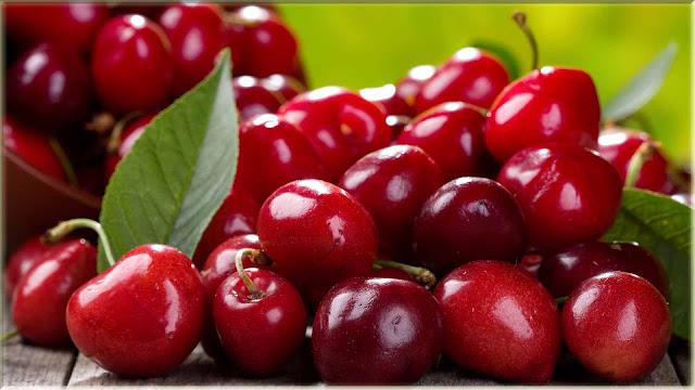 wallpaper gambar buah cherry