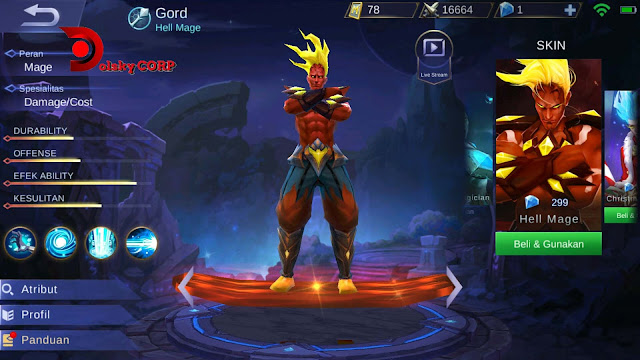 Mobile Legends : Hero Gord ( Hell Mage ) Burst Damage Builds Set up Gear