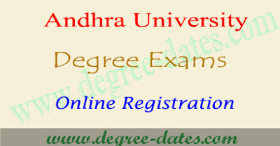 AU degree 2nd and 4rth semester online registration for practical theory exams