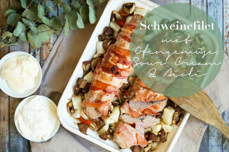 low carb Schweinefilet mit Ofengemüse