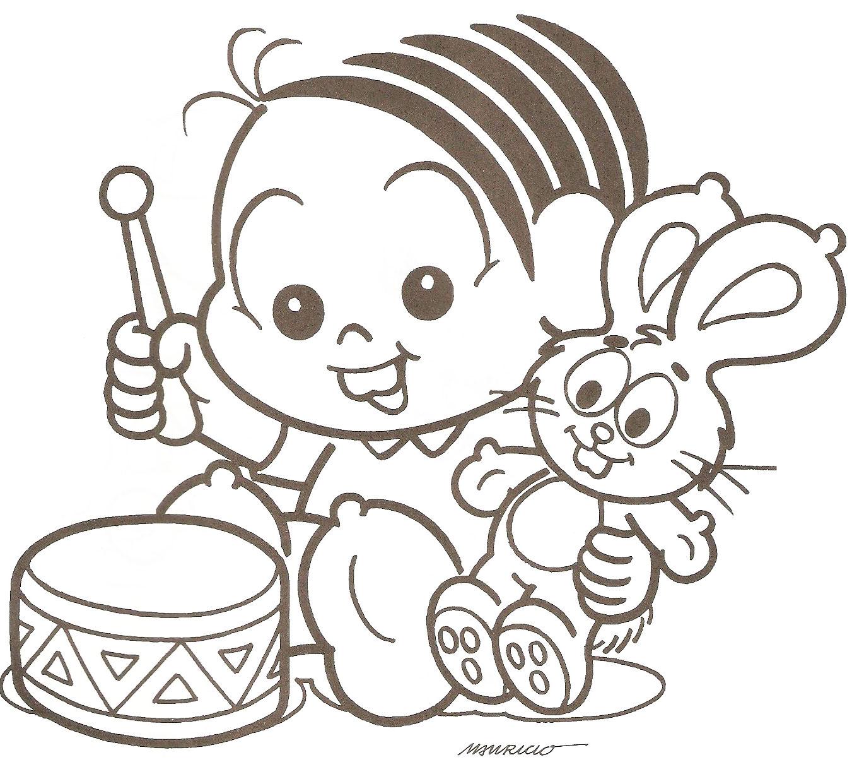 Desenhos Para Colorir Monica Baby Espaco Renda