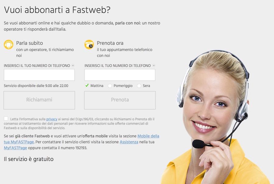 Come farsi chiamare da Fastweb