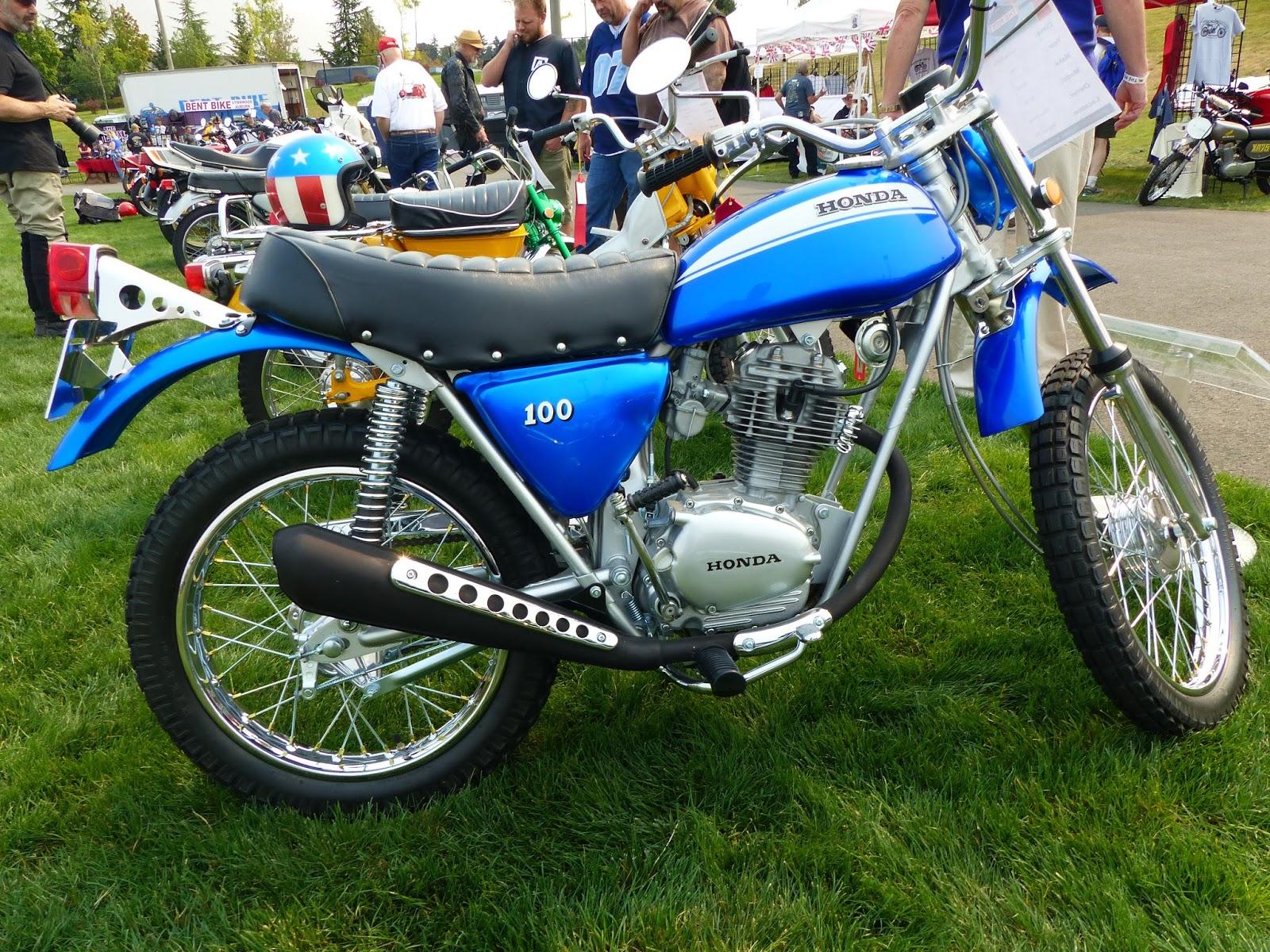 Oldmotodude 1970 Honda Sl100 On Display At The Meet 2015 Vintage 50cc Dirt Bike Motorcycle Festival Tacoma Wa
