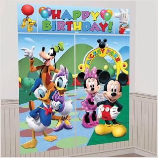 Mickey Mouse Theme Scene Setter Decoration Set