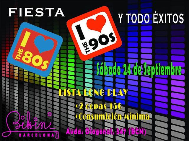 Flyer Fiesta 80, 90 y Todo Éxitos