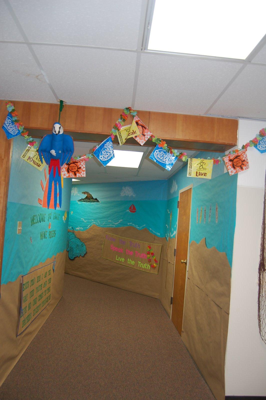 Classroom Decoration Ideas For Grade 5 ~ Beach ocean themed classroom clutter free