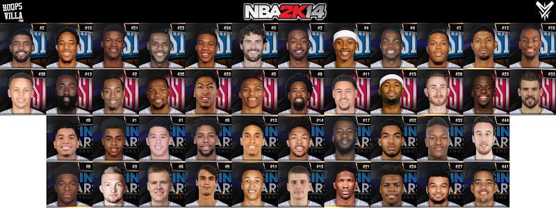 NBA 2k14 Roster update - January 28, 2017 - All Star 2017 Roster - HoopsVilla