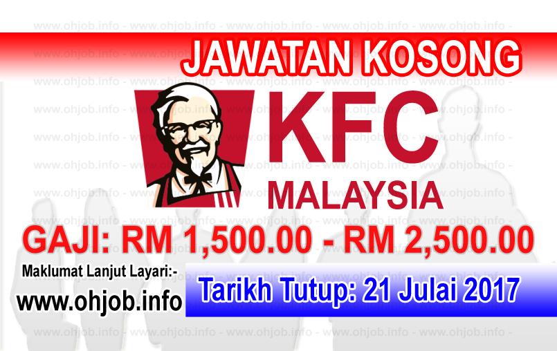 Jawatan Kerja Kosong KFC Malaysia logo www.ohjob.info julai 2017